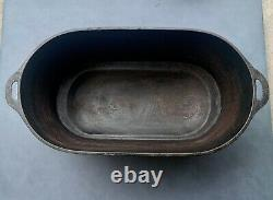 1800s Cast Iron 24QT. Footed Oval Roaster + MYSTERY GIFT