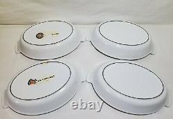 4 Le Creuset Enamel Cast Iron Au Gratin #20 White Oval Baking Dishes EXCELLENT