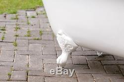 60 White Cast Iron Porcelain Clawfoot Bathtub Dble Bathtub Package Orig Finish