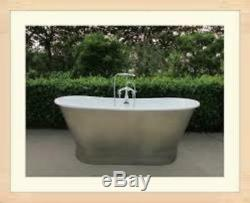 67-inch Skirted Stainless Steel Cast Iron Bathtub