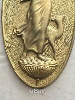 Antique Art Nouveau Architectural Cast Roman Greek Goddess Oval Wall Plaque