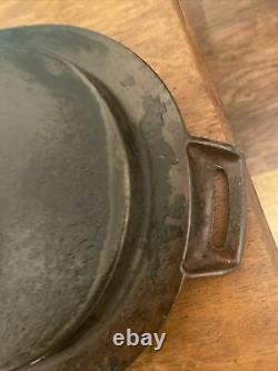 Antique Early Rare Wagner Sidney No. 8 Large Oval Cast Iron Fish Fryer Pan