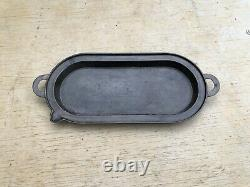 Antique Gate Marked Oval Cast Iron Griddle/ Grill Pan with pour