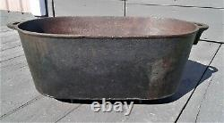Antique Large Cast Iron Footed Oval Roaster Boiler Gate Marked 8 Gallons 1850s