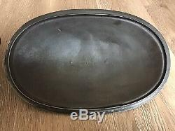 Antique Wagner Sidney O #2 Cast Iron Oval Roaster With Lid HTF