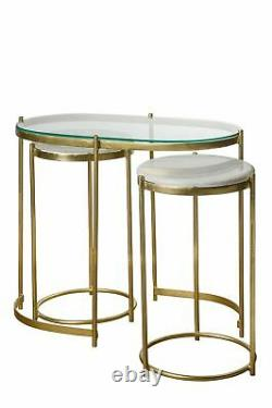 Atkin And Thyme Iron Oval Trinity Nesting Side Tables, Furniture, New York