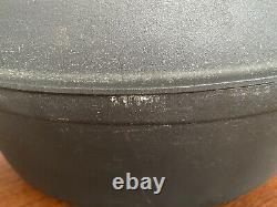Black Oval Dutch Oven COUSANCES DOUFEU Cast Iron With LID #28