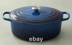 Brand New Le Creuset 5 qt Oval Classic French Dutch Oven Beautifull Lapis
