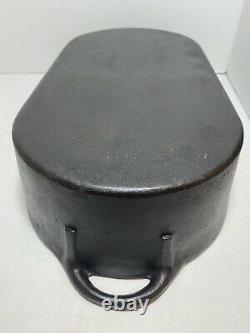 CAST IRON DEEP FISH FRYER # 3060 OVAL Pan Bottom Only