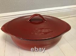 Calphalon Cabernet Red Enameled Cast Iron Dutch Oven 8 Quart Pot withLid New