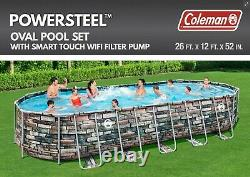 Coleman 26' x 52 Power Steel Pool Set & Pump FREE SHIPPING NEW IN HAND