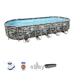 Coleman 26x12x52in Power Steel Oval Above Ground Pool with WiFi Pump FREE SHIPPING