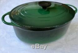 Cousances Le Creuset 28 Oval Dutch Oven Classic Dark Green Lid Enamel
