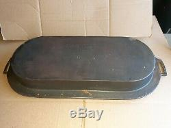 Early Wagner Sidney O #8 Cast Iron Deep Long/oval Pan