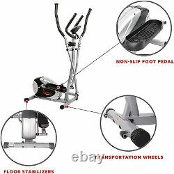 Elliptical Machine Cross Trainer, with 8 Level Resistance & Digital Monitor New