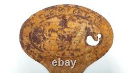 Extremely Rare Cast Iron Vintage Missouri State Highway 67 Sign Oval Shaped