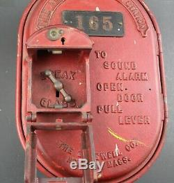 Gamewell Oval Telegraph Station Vintage Cast Iron Fire Alarm Box