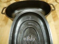 Griswold # 3 Oval Roaster Cast Iron