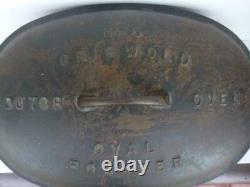 Griswold #5 Vintage Antique Cast Iron Oval Roaster Dutch Oven non electric