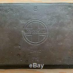 Griswold 712 No 8 Cast Iron Oval Griddle Slant Logo ERIE HTF