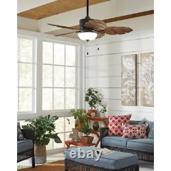 Home Decorators Palm Cove 52 in. LED Indoor/Outdoor Natural Iron Ceiling Fan