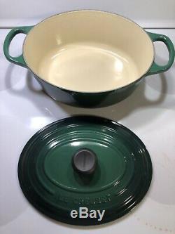 Juniper 3.5 Qt #25 LE CREUSET Cast Iron Signature Oval Dutch Oven Cactus Green