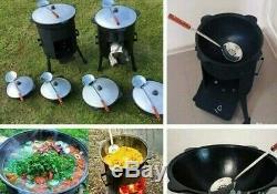 Kazan Uzbek Cast Iron Oven Qazon Tradition Plov Kebab Cookware Stove Lagman 10l