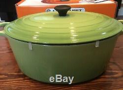LE CREUSET 15.5 QT GOOSE Pot Green In LC Orange Box Roast BIG New In Box