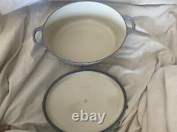 LE CREUSET # 31 Enamel 6-3/4 Quart Oval Dutch Oven Cast Iron MADE in FRANCE