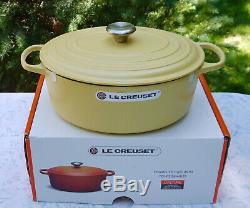 LE CREUSET #31 Rare MIMOSA (Sunshine Yellow Color!) Oval Dutch Oven 6.75 QT