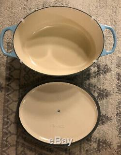 LE CREUSET #31 Rare Sugar Blue Color! Oval Dutch Oven 6.75 QT NIB