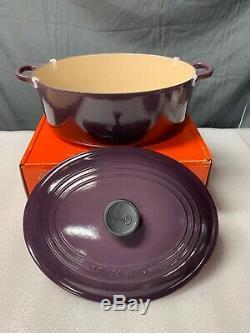 LE CREUSET Cassis Purple Plum Cast Iron Oval Casserole Dutch Oven 6 3/4 Qt RARE