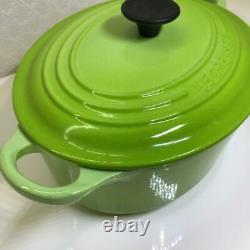 LE CREUSET Kiwi Green 23 Oval Cast Iron Dutch Oven 2.75QTS