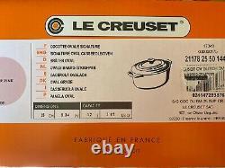 LE CREUSET SUGAR PINK SIGNATURE OVAL CASSEROLE 3 1/2 QUART NEWithBOX