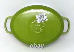 LE CREUSET Vert Fruit Kiwi Green Oval Dutch Oven 3.5 Qt, Cast Iron Casserole #25