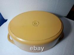 Large Genuine Le Creuset / Cousances Oval Cast Iron Casserole Dish/ Pan Size 32