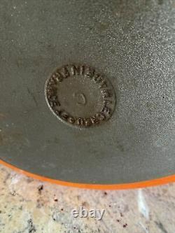 Large Lidded LE CREUSET 25cm OVAL Casserole VOLCANIC ORANGE £250