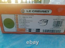 Le Creuset 1 Quart Oval Dutch Oven Palm Green new