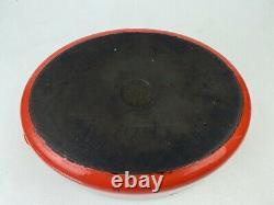 Le Creuset 12.5 7-Quart Enamel Cast iron Oval Dutch Oven G Roaster Pan Orange