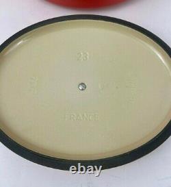 Le Creuset #23 Enameled Cast Iron Oval Dutch Oven 2 3/4-Qt. Flame Orange NEW