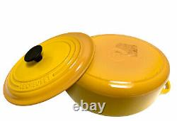 Le Creuset #23 Enameled Cast Iron Oval Dutch Oven With Lid 2 3/4 qt Yellow NWOB