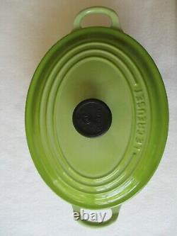 Le Creuset #23 Green Enamel Oval Dutch Oven with Lid