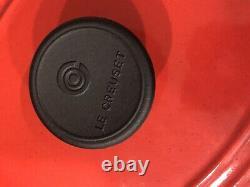 Le Creuset #25 Enameled Cast Iron Oval Dutch Oven 2.75 Qt Cerise Red