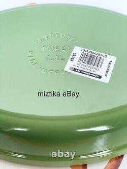Le Creuset #28 Gorgeous Palm Green Color Pan Oval Baker Cast Iron New in Box