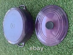 Le Creuset #29 Purple Cast Iron Oval Dutch Oven WithLid made in France