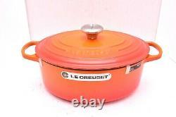 Le Creuset #29 SIGNATURE Cast Iron OVAL Dutch Oven 5.0 Quart FLAME NEW