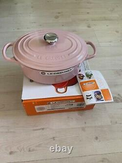 Le Creuset 3.5 Qt. SIGNATURE French Dutch Oven Chiffon Pink Oval VERY RARE NIB