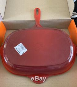 Le Creuset 32cm Cast Iron Oval Griddle / Frying Pan -Cerise