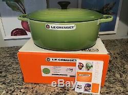 Le Creuset #33 Cast Iron Oval Dutch Oven 8 QT Palm WithBonus