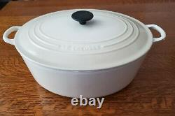 Le Creuset #35 Cream Enameled Cast Iron 9.5 Quart Dutch Oven